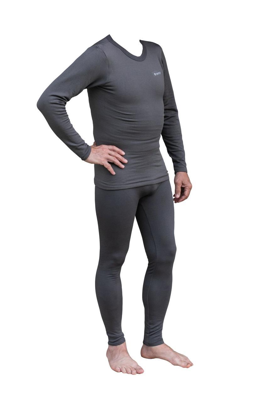 Термобелье мужское Tramp Warm Soft серый комплект (футболка+кальсоны) TRUM-019 L-XL