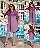 Женское свободное платье из тонкого джинса  (50-56), фото 1