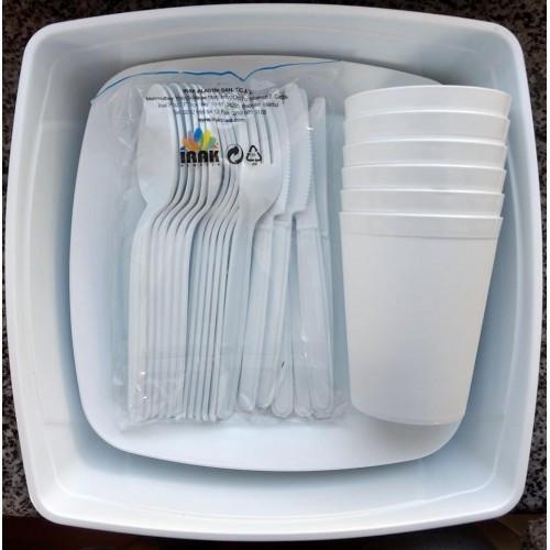 Набор посуды для пикника на 6 персон Plast Art, 32 предмета