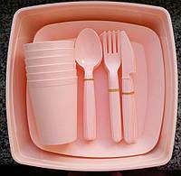 Набор посуды для пикника на 6 персон Plast Art, 32 предмета, фото 1