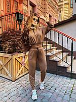 Стильный костюм стиле спорт-шик. рр 42-44, 46-48 кэмел, фото 1
