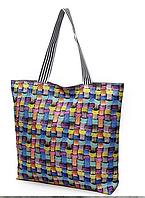 Пляжные тканевые сумки оптом  (ЯРКИЙ ПРИНТ)43*45см