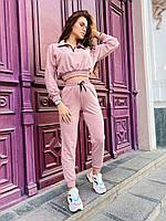 Стильный розовый костюм стиле спорт-шик. рр 42-44, 46-48, фото 1