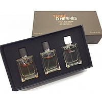 Подарочный набор мини  парфюмерии Terre D' Hermès 3 в 1  (3*12.5мл)
