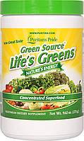 Суперфуд Green Source Lifes Greens Puritans Pride порошок 273 г 35287, КОД: 1536191