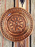 Декоративна тарілка ручної роботи різьба по дереву