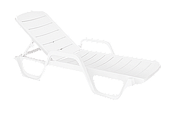 Шезлонг лежак  Avangarde білий 01