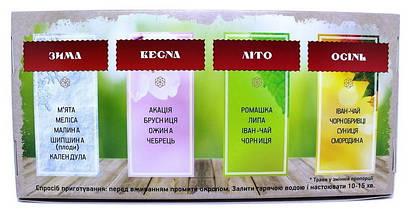Подарочный набор вкусного чая 4 сезона, НатуральныйКарпатский травянойфиточай, фото 3