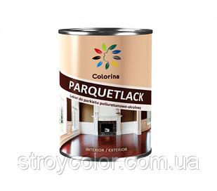 Лак паркетный глянцевый полиуретан-акриловый Parquetlack Colorina 2.5л (На водной основе колорина без запаха)