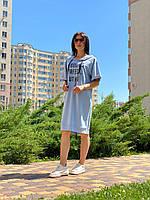 Женское платье-худи из котона Poliit 8751
