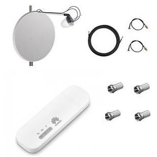 Комплект для 4G / 3G интернета роутер Huawei E8372 + офсетная антенна MIMO 2x27 dBi