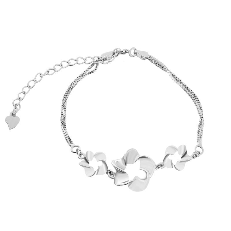 """Срібний браслет """"Квіти"""" Б2/413"""