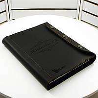 Кожаный блокнот M. Ежедневник с кожаной обложкой А5 с лазерной гравировкой изображений