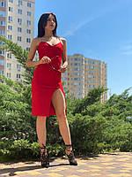 Женское платье из фактурной стрэйчевой ткани Poliit 8732