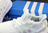 Женские кроссовки Adidas EQT в стиле Адидас Эквипмент БЕЛЫЕ (Реплика ААА+), фото 7