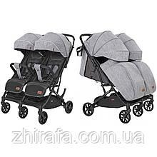 Прогулочная коляска для двойни Carrello Presto Duo Pitch Grey