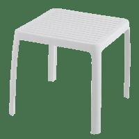 Столик для шезлонга пластиковый белый