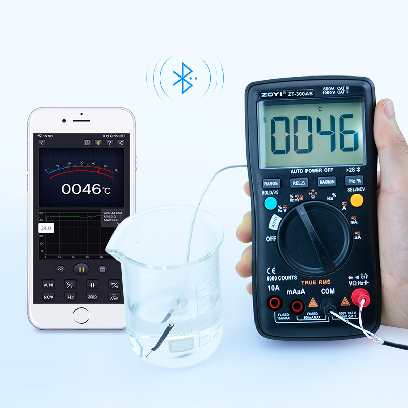 ZOYI ZT-300AB Bluetooth Цифровой мультиметр тестер NCV ( AN9002 )