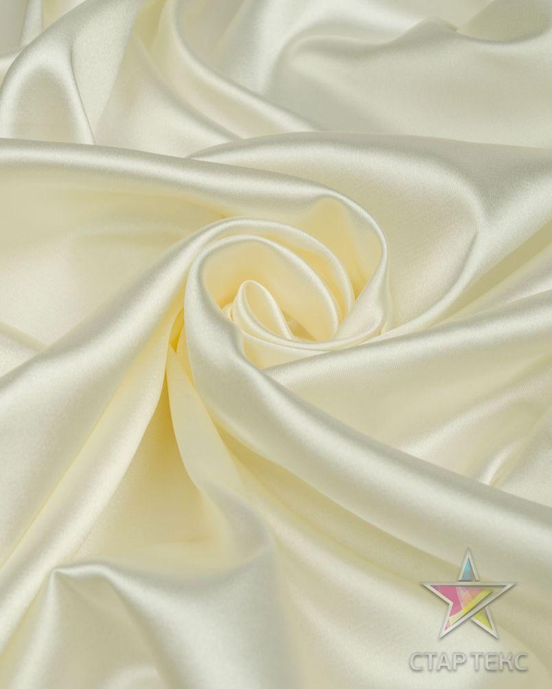 Ткань Атлас Королевский (стрейч плотный) Молочный