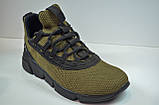 Мужские кроссовки сетка хаки в стиле 2163/146, фото 3