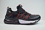 Чоловічі кросівки чорні з червоним Nike 1170 - 4, фото 2