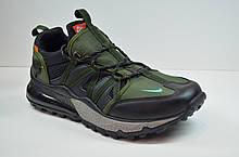 Чоловічі кросівки чорні з зеленим Nike 1170 - 6