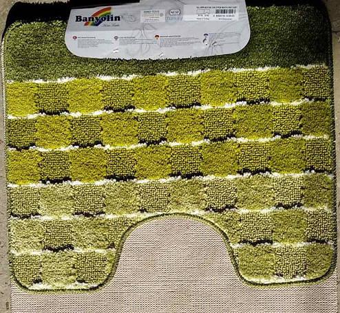 Наборы ковриков для ванной Banyolin Silver 50 x 80/ 50 x 40 зеленый, фото 2