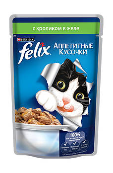 Влажный корм Felix (Феликс) Fantastic с кроликом, 100грх20 шт
