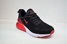 Мужские кроссовки черные с красным в стиле 270 (5058 - 4)