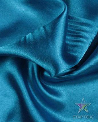 Ткань Атлас Королевский (стрейч плотный) Голубой, фото 2