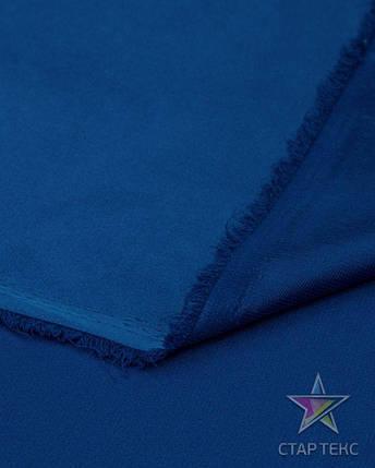 Ткань Атлас Королевский (стрейч плотный) Электро-синий, фото 2