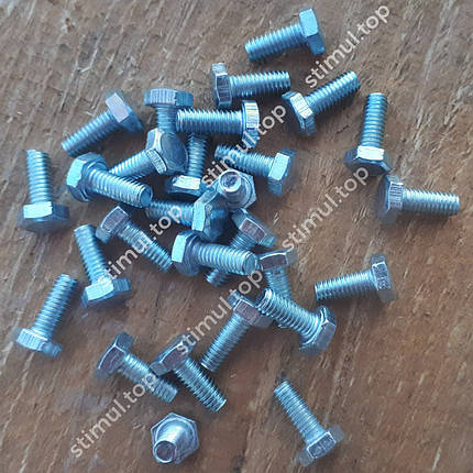 Din 933 Болт полная резьба 5х16 мм / 500 штук в упаковке / Болт з повною різьбою / Болты оцинкованные 5.8 кл, фото 2