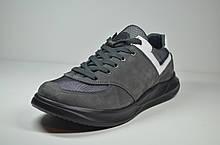 Чоловічі кросівки нубукові сірі Samas 133 - 1