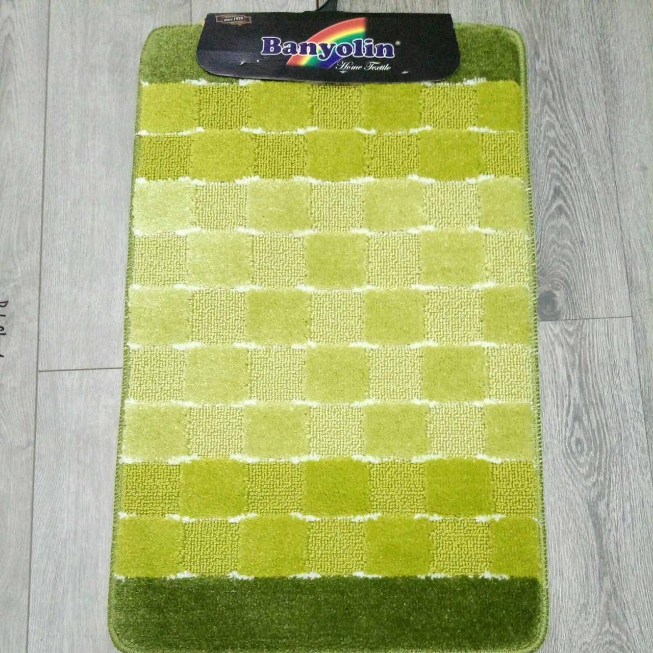 Наборы ковриков для ванной Banyolin Silver 50 x 80/ 50 x 40 зеленый