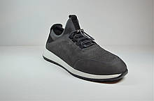 Мужские спортивные туфли кроссовки нубуковые серые Esente 2437.745