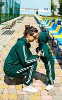 """Комплект спортивного одягу """"Eliza Family look"""" смарагдовий з лампасами 146-152 см/L"""