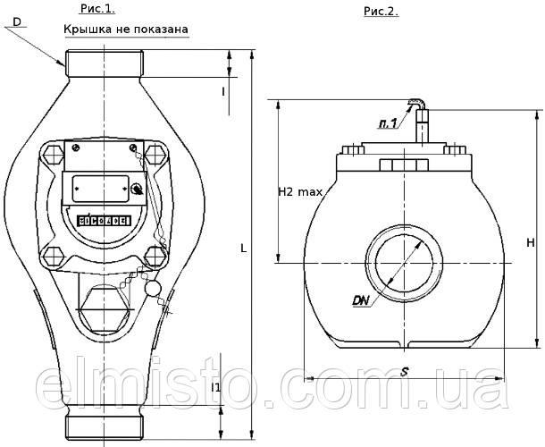 Габаритные размеры КВБ-10 Х Ду-40