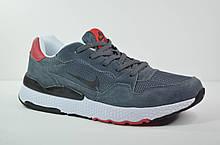 Чоловічі кросівки сірі з червоним NIKE (2080 - 5)