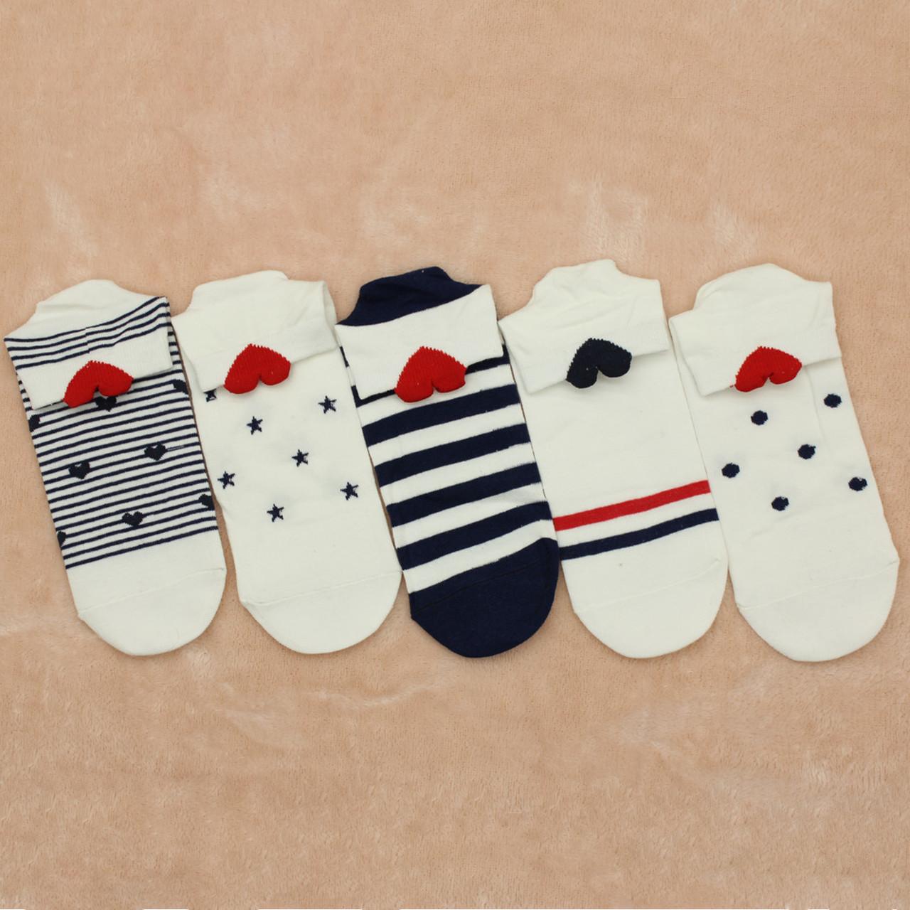 Шкарпетки жіночі короткі BRUNO з сердечком р.36-40
