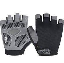 Перчатки для тренажерного зала велосипеда Hotllr L безпалые черные