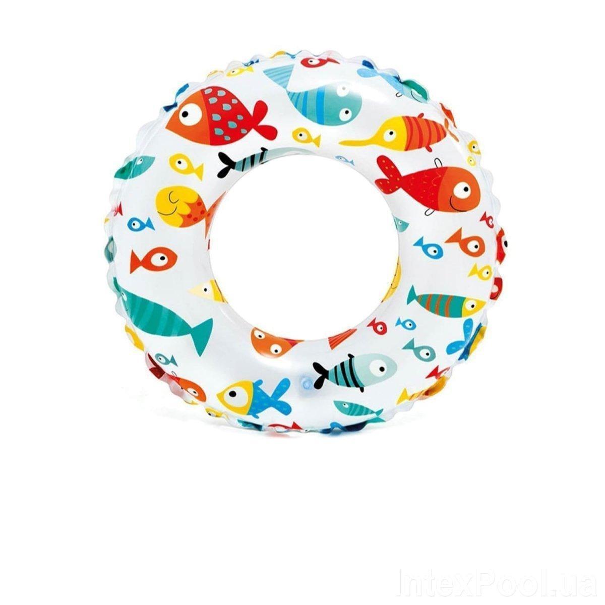 Детский надувной круг для плавания и купания рыбка Intex для младенцев и малышей