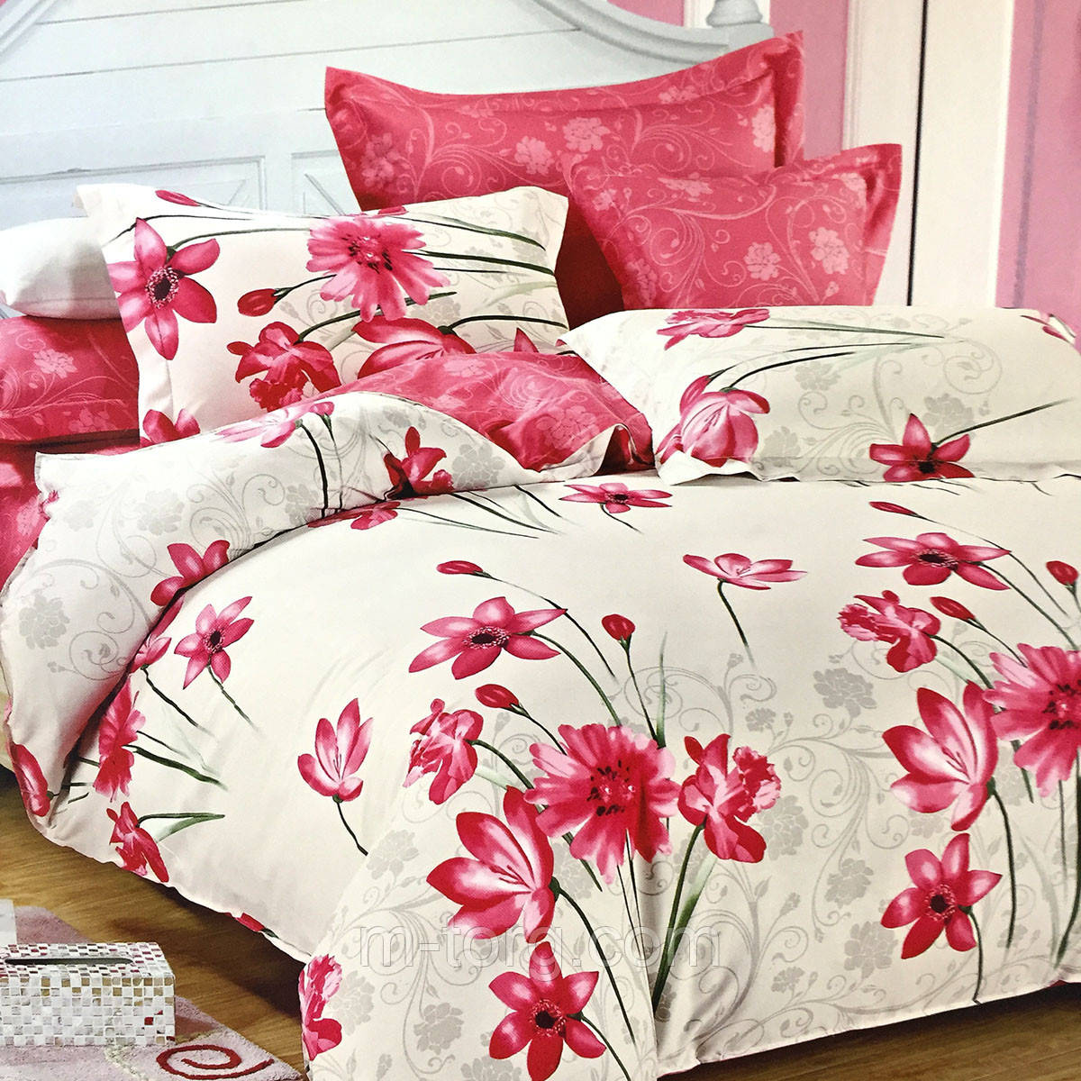 """""""нежное"""" постельное белье Elway Premium евро размер 200*220 см, ткань сатин 100% хлопок"""