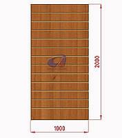 Економ панель, експо панель, орех H=2000мм, W=1000мм, шаг 100мм, 19 пазов, без вставок