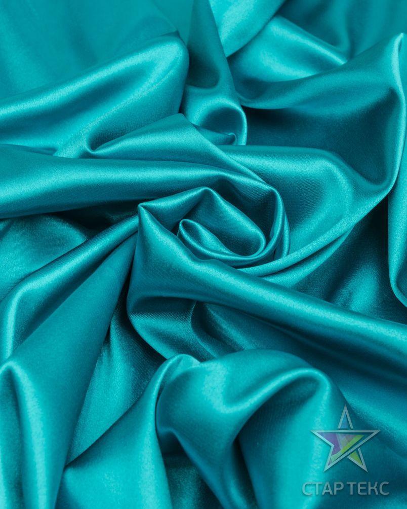 Ткань Атлас Королевский (стрейч плотный) Бирюзовый