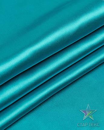 Ткань Атлас Королевский (стрейч плотный) Бирюзовый, фото 2