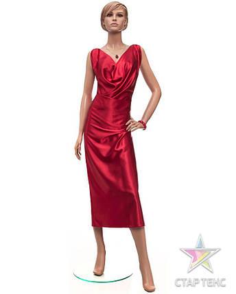 Ткань Атлас Королевский (стрейч плотный) Красный, фото 2