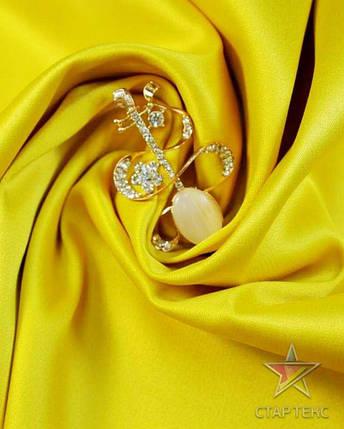 Ткань Атлас Королевский (стрейч плотный) Желтый, фото 2