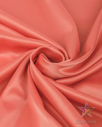 Ткань Атлас Королевский (стрейч плотный) Персиковый, фото 2