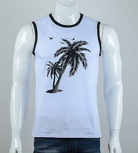Безрукавка мужская Пальмы (2077бм), Белый