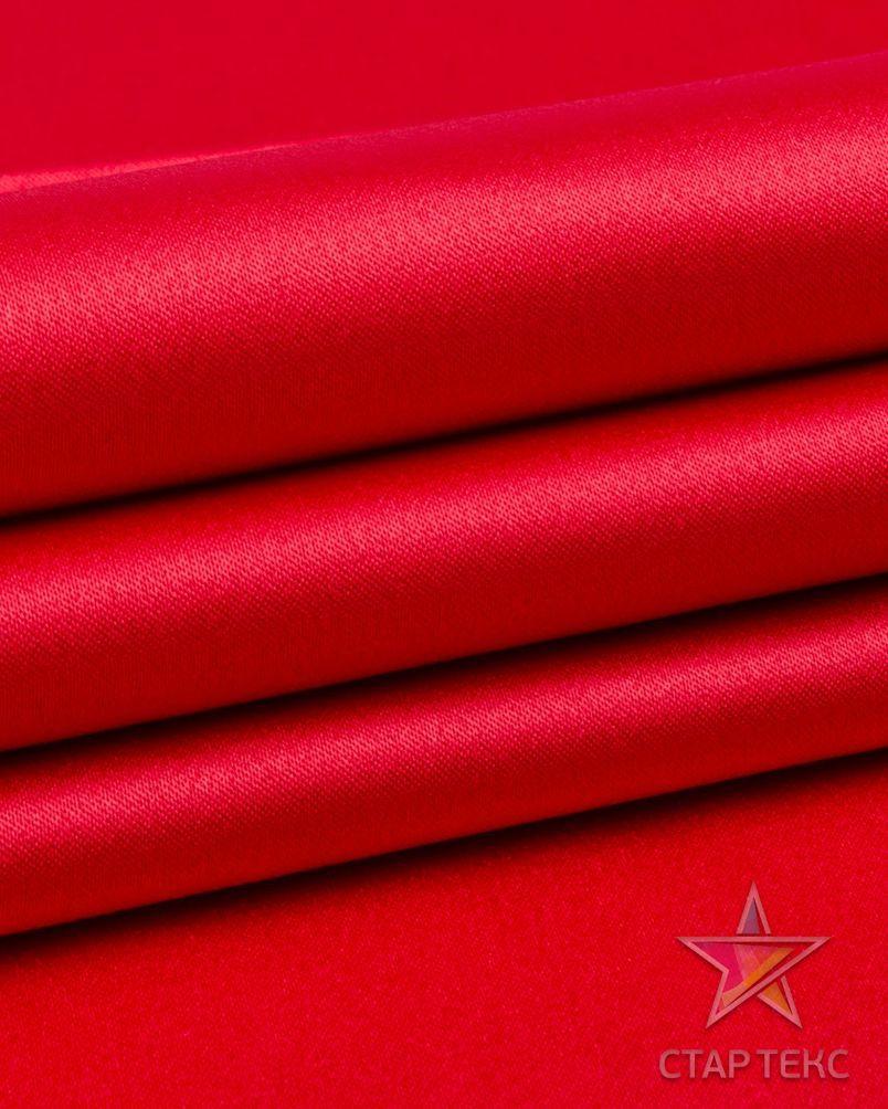 Ткань Атлас Королевский (стрейч плотный) Малиновый